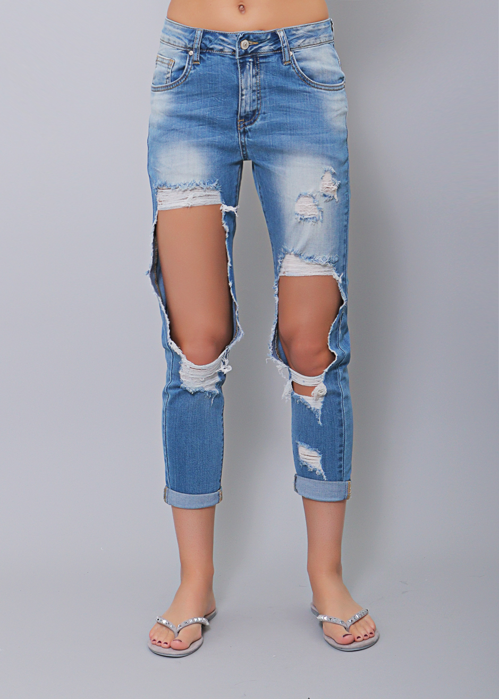 jeans mit rie igen l chern bekleidung sassyclassy. Black Bedroom Furniture Sets. Home Design Ideas