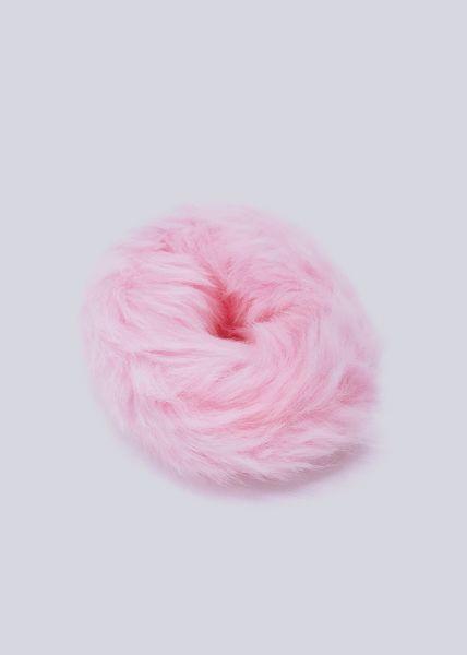 Scrunchie aus Kunstfell, rosa