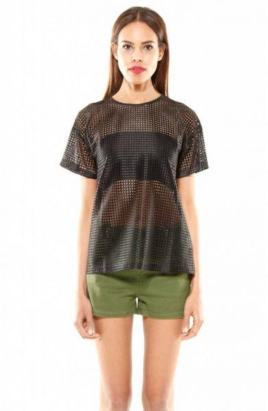 Oversized Shirt, schwarz