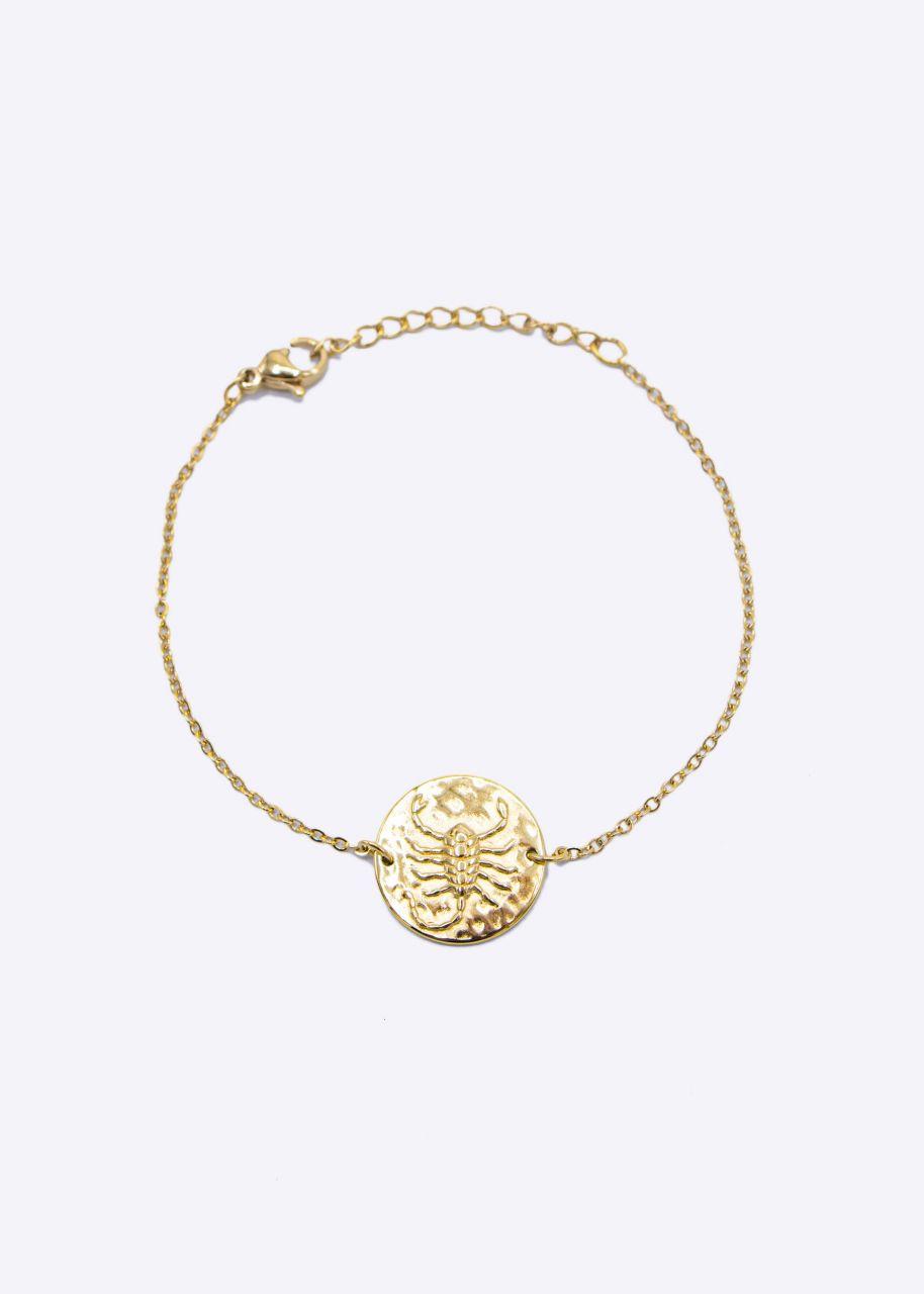 Armkette mit Sternzeichen Skorpion, gold