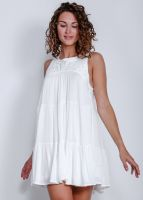 Hängerchen-Kleid mit Crochetpasse, weiß
