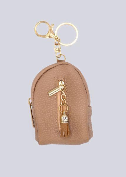 Taschenanhänger Rucksack, beige