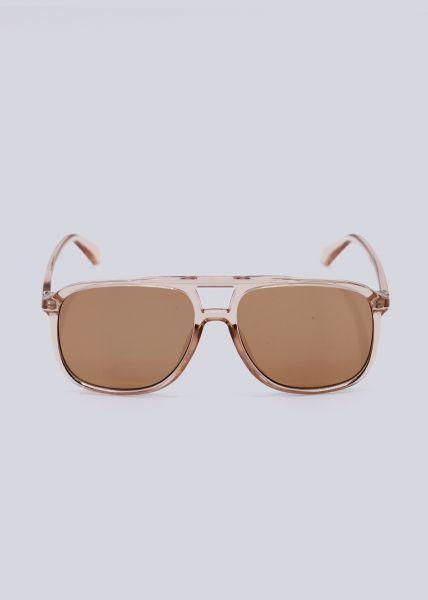 Sonnenbrille mit Brauensteg, rosa