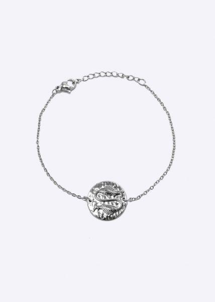 Armkette mit Sternzeichen Fisch, silber