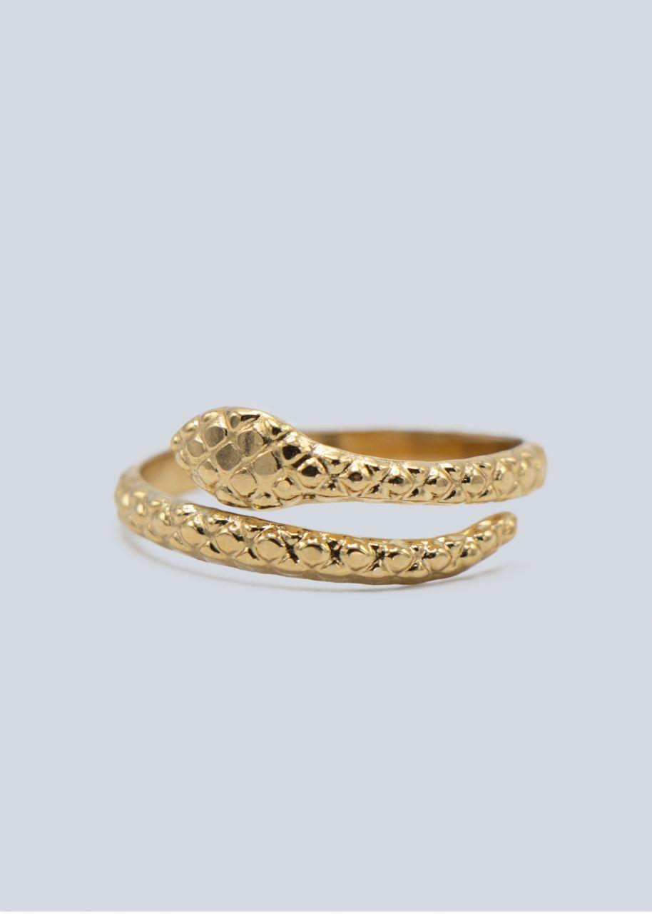 Ring mit Schlangenkopf, gold