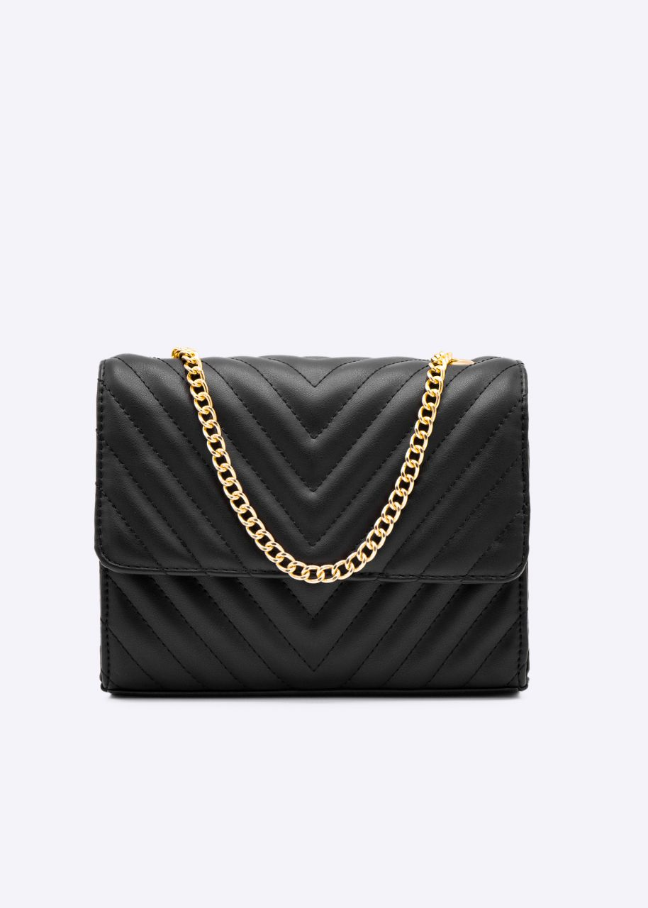 Stepp-Tasche, schwarz