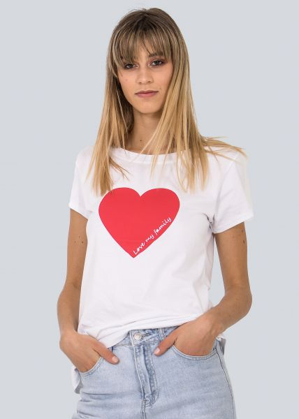 "T-Shirt ""Love my family"", weiß"