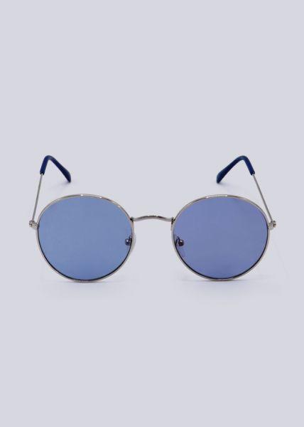 Runde Sonnenbrille, blau
