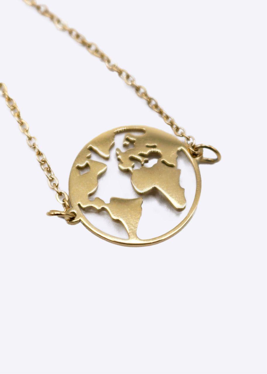 """Armkette """"Welt"""", gold"""