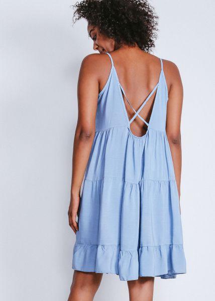 Oversize Hängerchenkleid mit Rückenausschnitt, blau