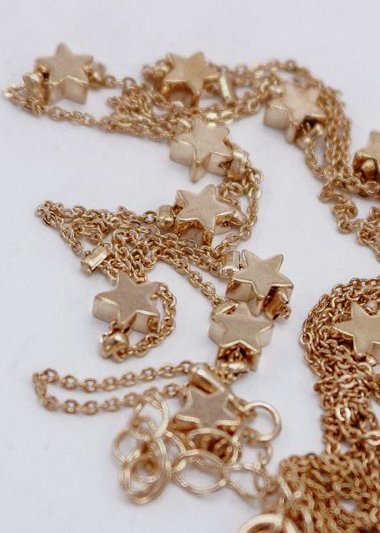 Halskette mit Sternen, gold