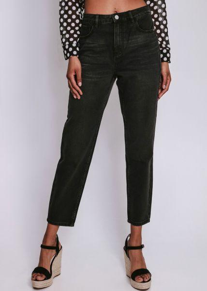 Mom-Jeans, schwarz