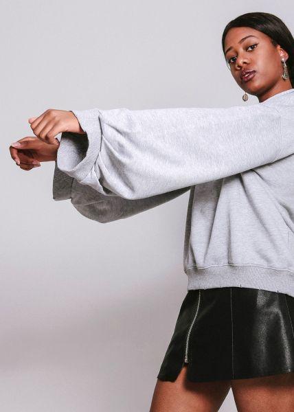 Sweatshirt mit weitem Arm, grau