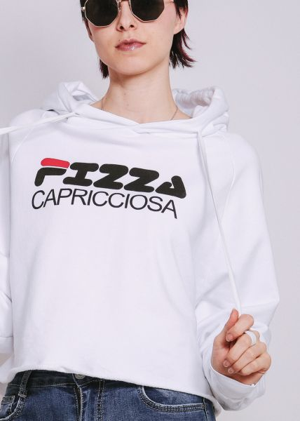 "Hoodie ""PIZZA CAPRICCIOSA"", weiß"