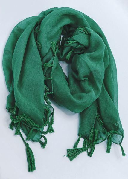Schal mit Tassels, grün