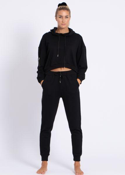 Loungewear-Zweiteiler, schwarz