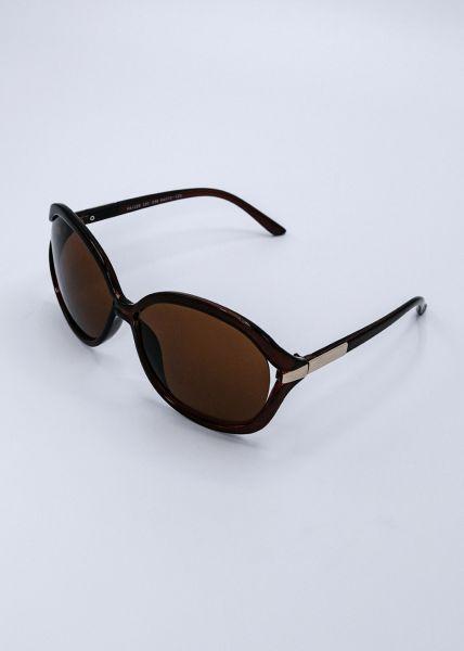 Große Sonnenbrille, braun