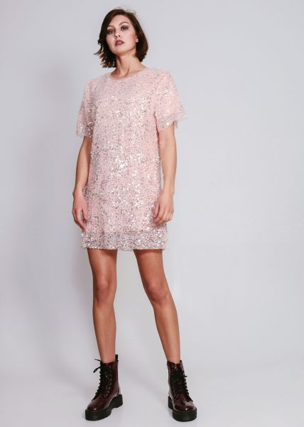 Paillettenkleid, rosa