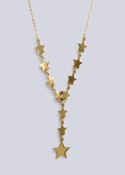Sternen-Kette, gold