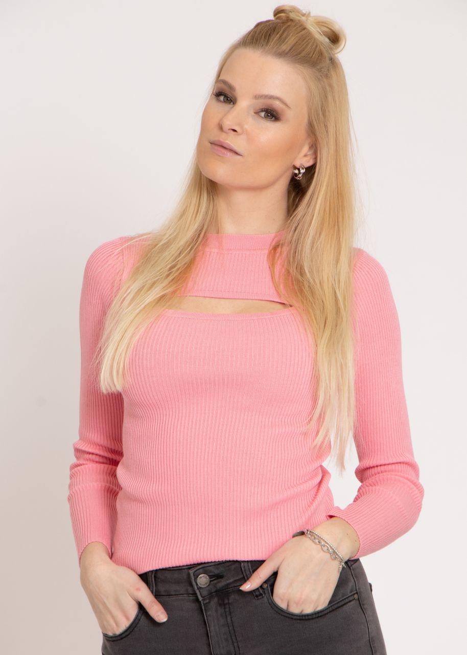 Pullover mit Cut-Out, rosa