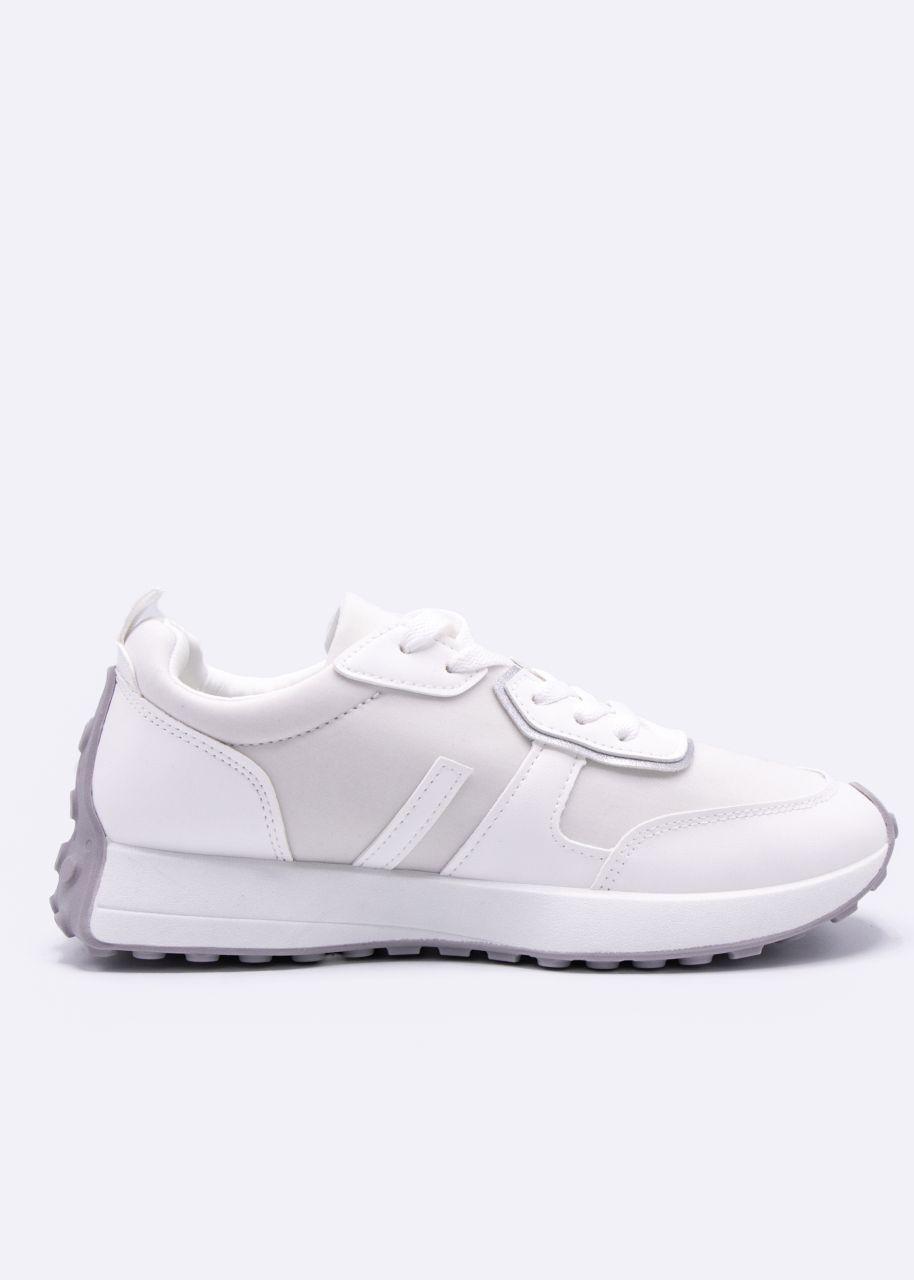 Plateau-Sneaker mit Noppen-Sohle, weiß
