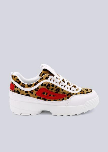 Leo-Sneaker mit Plateau, weiß