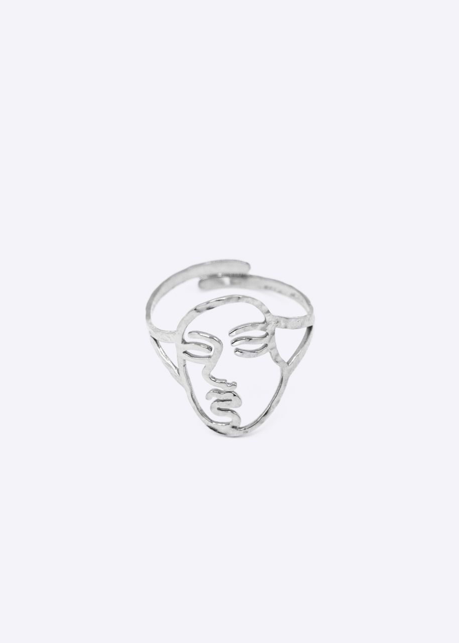"""Ring """"FACE"""", silber"""