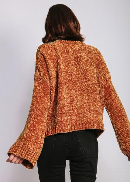 Chenille-Pullover, senfgelb
