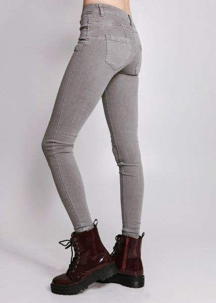 Push Up Jeans, grau