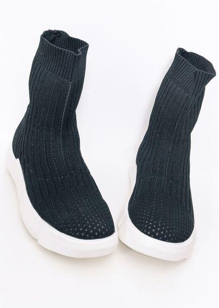 Sock-Sneakers, schwarz