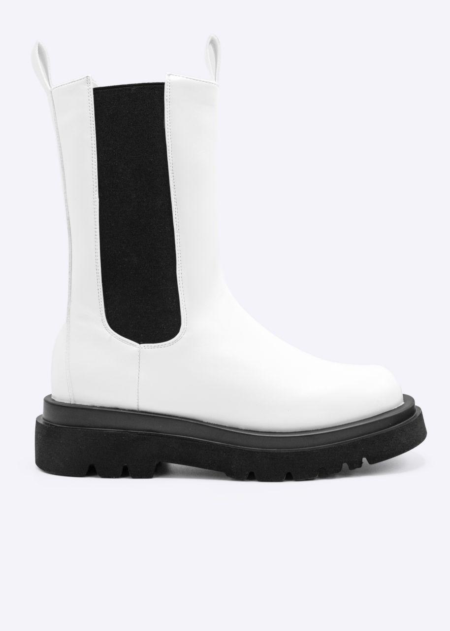 Combat-Boots, weiß