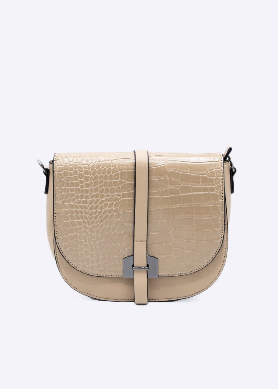 Überschlagtasche, beige