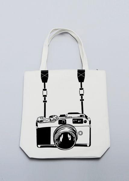 """Stofftasche mit """"Foto""""-Print"""