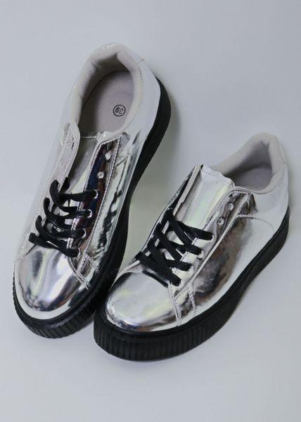 Metallic Sneaker, silber