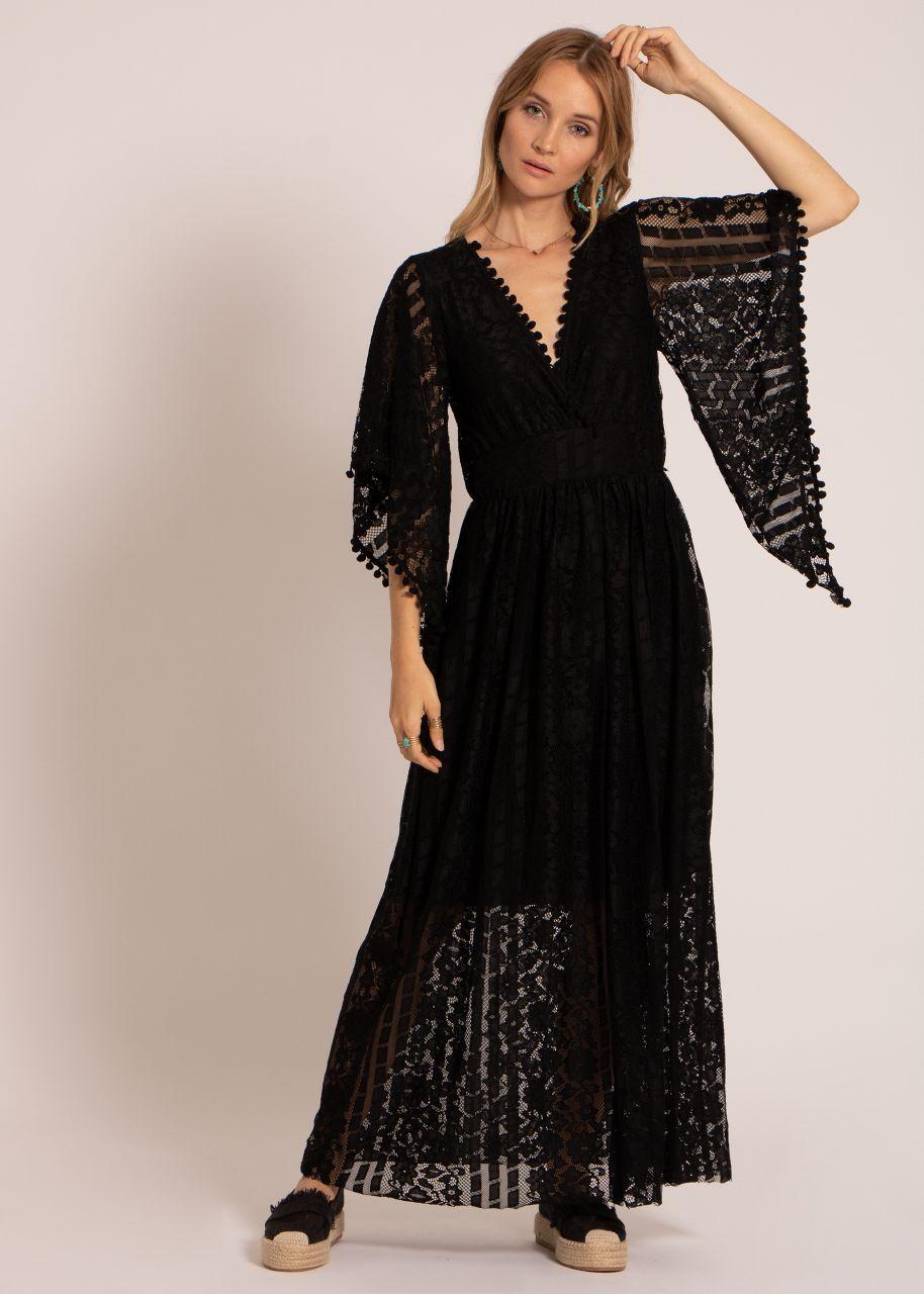 Spitzen-Kleid, schwarz