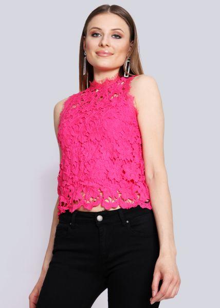 Spitzentop, pink