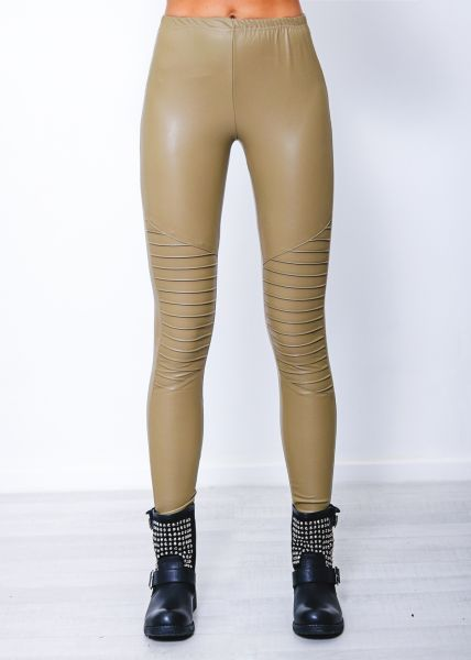 Leggings, helles khaki