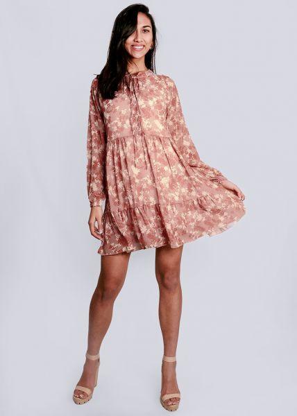 Hängerchenkleid mit Blumenprint, rosa