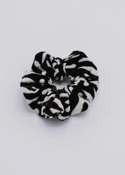 Scrunchie aus Velvet, Zebra