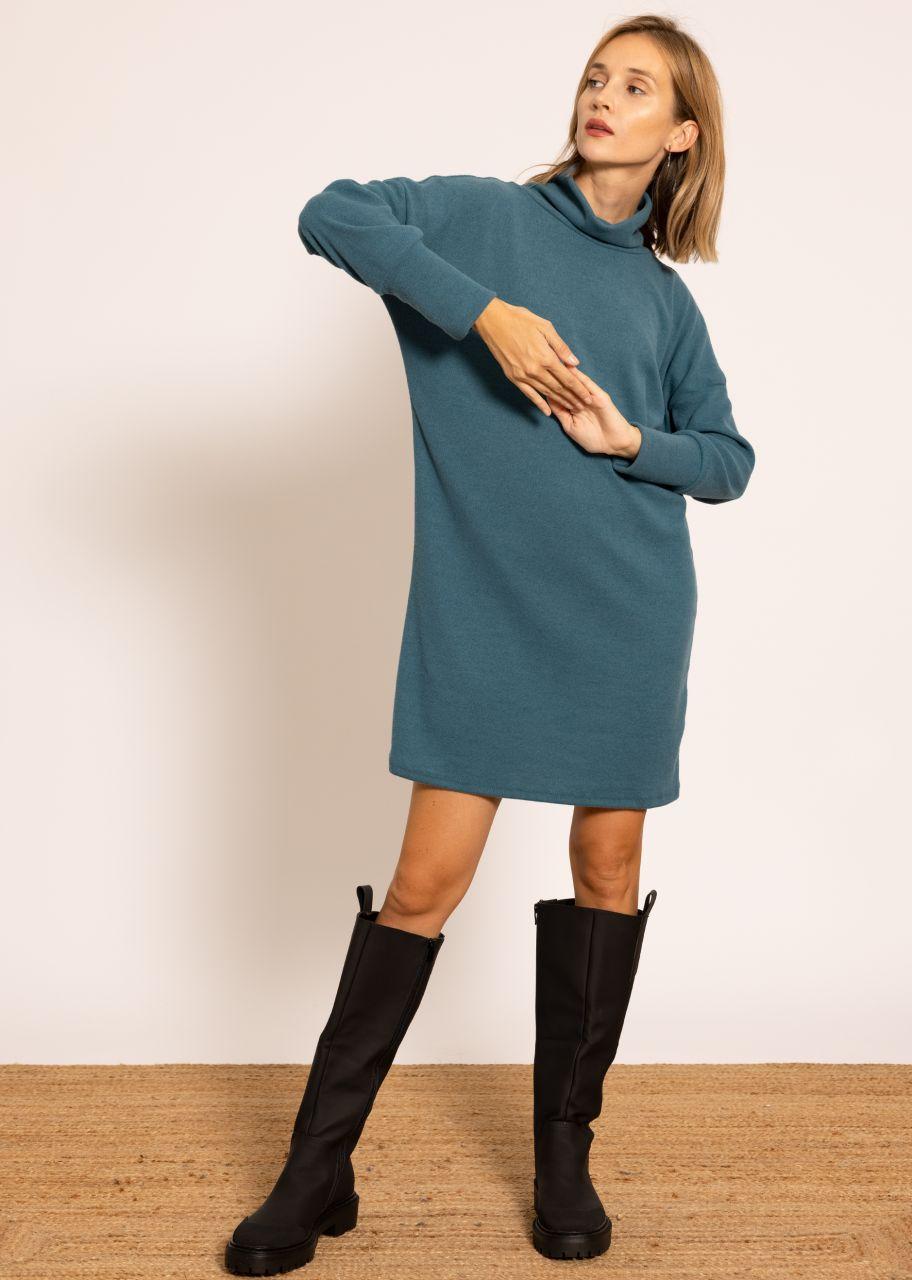 Pulloverkleid, petrolgrün