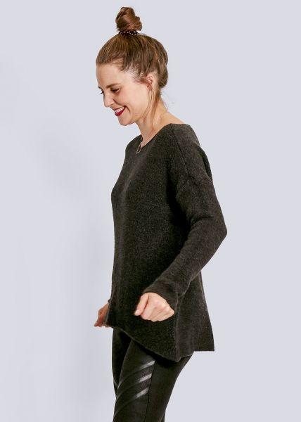 Oversize Pullover, dunkelgrau