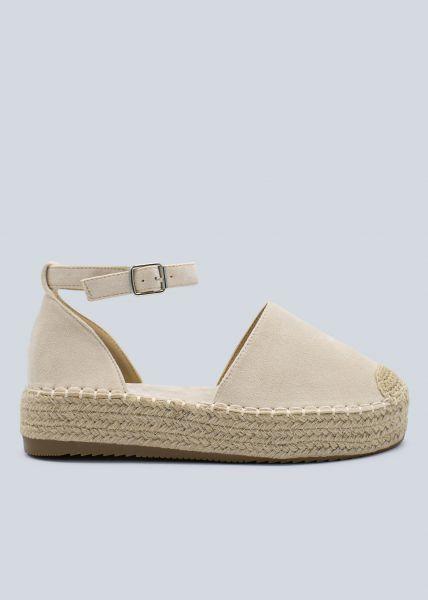 Espadrilles-Sandalen, beige