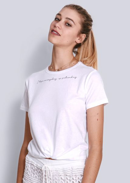 T-Shirt Saturday, weiß