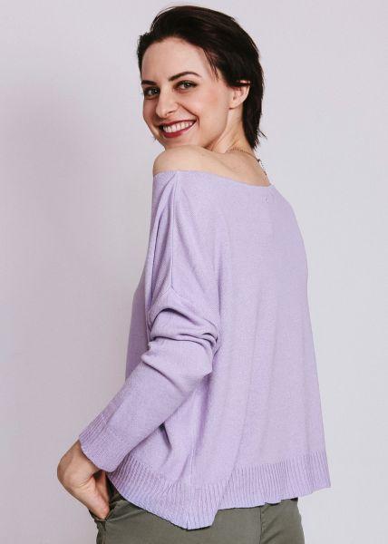 Pullover mit hohem Bund, flieder