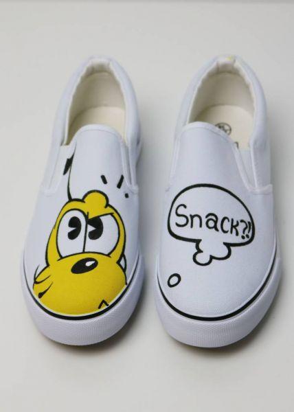 Sassy slip on shoes, pastellig hell