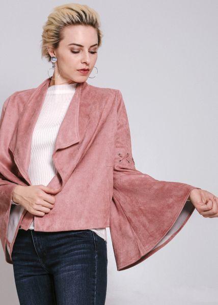 Jacke mit weiten Ärmeln, rosa