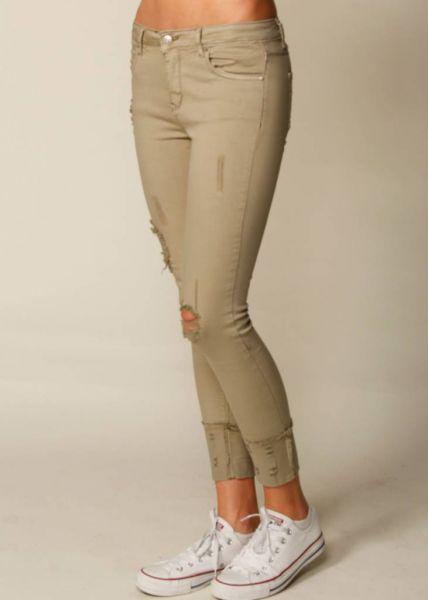 Super skinny Jeans, khaki
