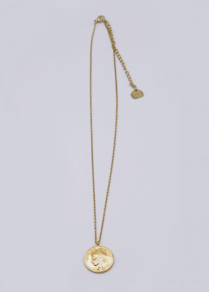 Halskette mit Münze, gold