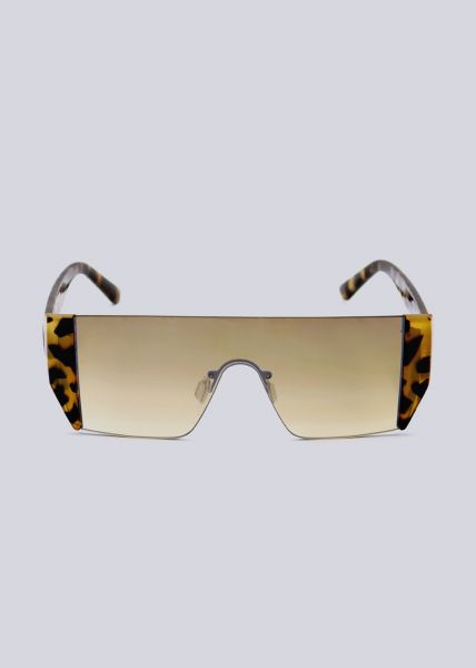 Rahmenlose Sonnenbrille mit Leo-Bügel