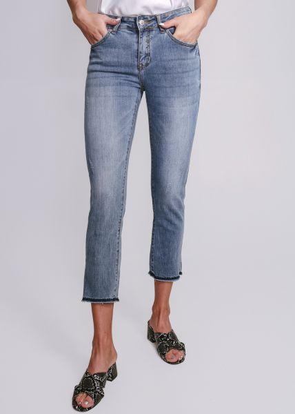 Knöchellange, Skinny Jeans, blau